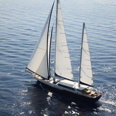 Perla del Mare Yacht Aerial View
