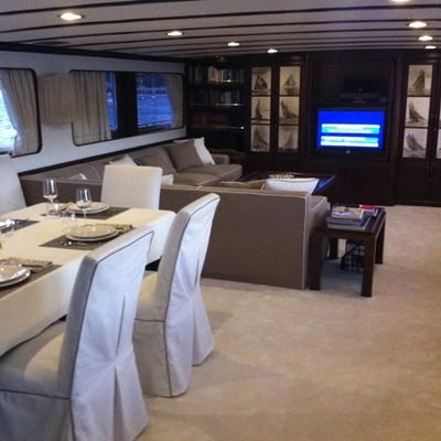 India Yacht Dining Area