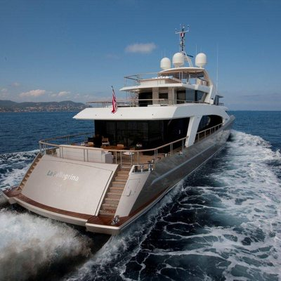 La Pellegrina I Yacht Running Shot Aft
