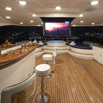 Lady Leila Yacht Sundeck Bar