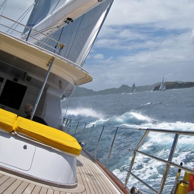 Blush Yacht Running Shot - Deck