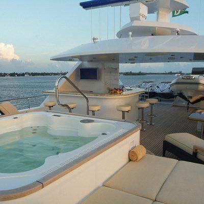 Aquasition Yacht Sundeck view aft