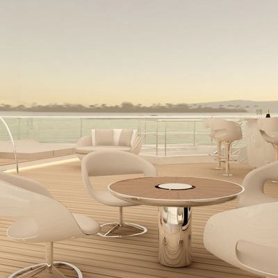 Nautilus Yacht Exterior Seating Outside The Gymanisum