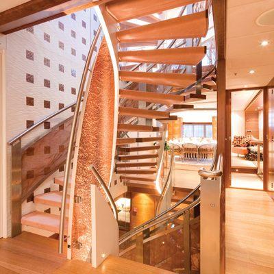 Northlander Yacht Interior Staircase
