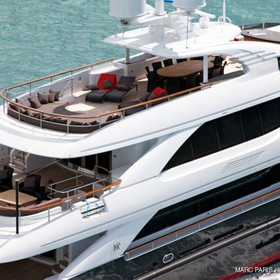 Liberty Yacht Aerial View - Aft Decks