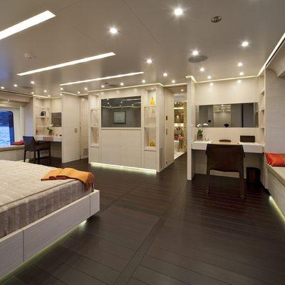Baraka Yacht Master Stateroom - Corner View