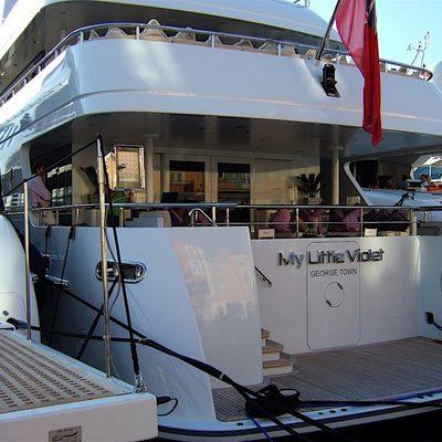 My Little Violet Yacht Stern & Gangway