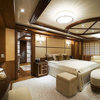 Princess Iolanthe Yacht Master Stateroom - Side View