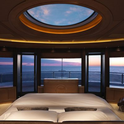 Naia Yacht Master Stateroom - Panoramic View Sunset