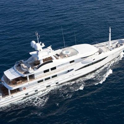 Spirit Yacht Running Shot - Aerial View