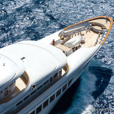 Utopia Yacht Overhead - Bow
