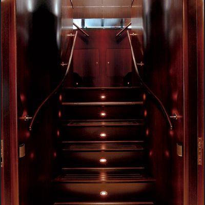 Parsifal III Yacht Stairway