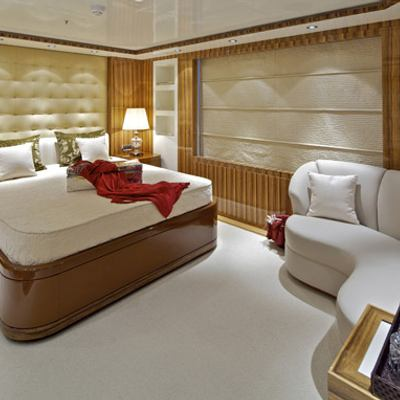 Mia Rama Yacht Red Guest Stateroom
