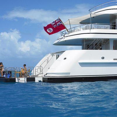 Harle Yacht Aft View with Swim Deck