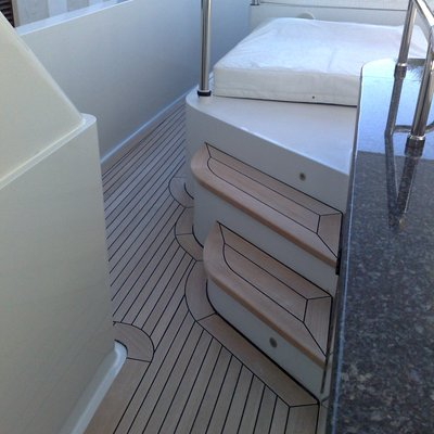 Milk and Honey Yacht Exterior Stairs