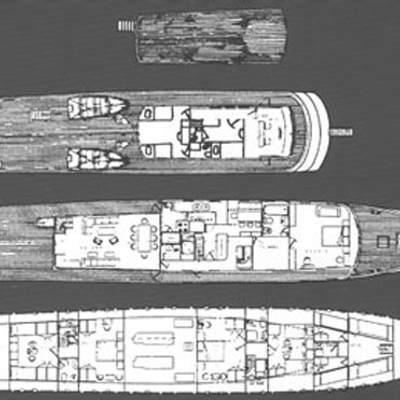 Theodora Yacht Deck Plans