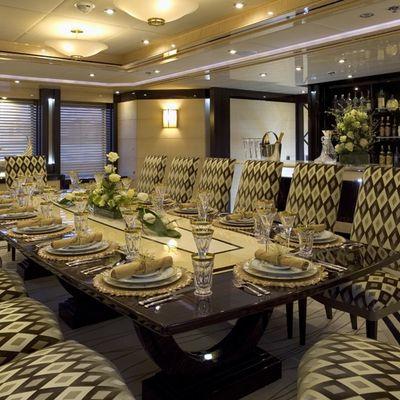 Lady Sheridan Yacht Dining Saloon