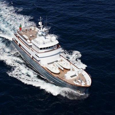 Axantha II Yacht Running Shot - Aerial