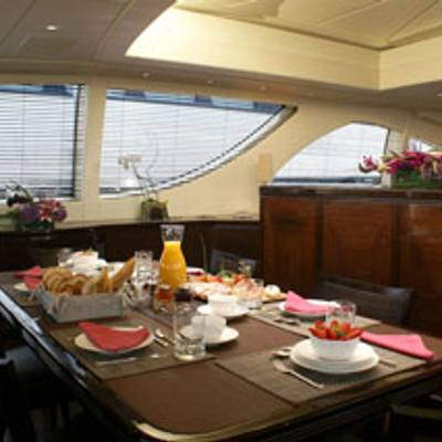 Voyage Yacht Hard Top Dining Area