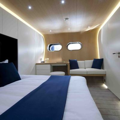 Ocean Pearl Yacht Blue Guest Stateroom