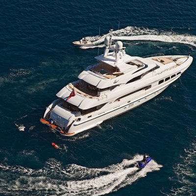 Seven S Yacht Aerial View