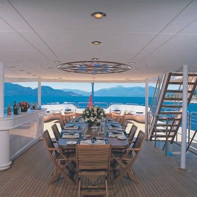 Lou Spirit Yacht Upper Deck - Dining