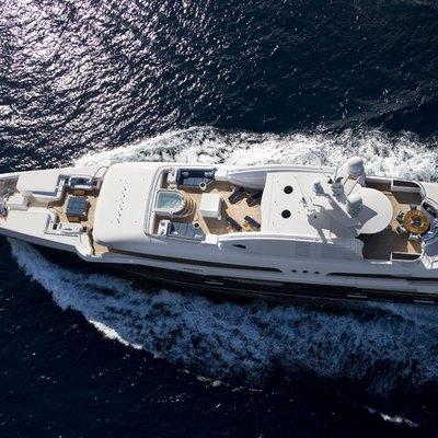 Sycara V Yacht Running Shot - Overhead