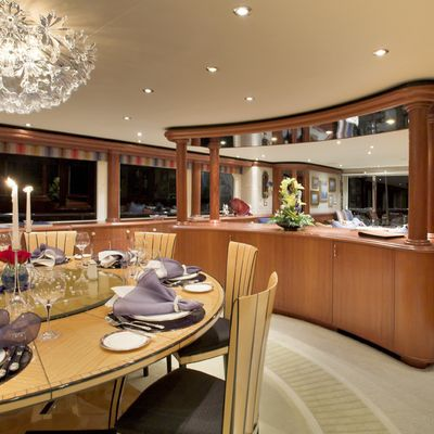 Nicole Evelyn Yacht Main Dining Aft