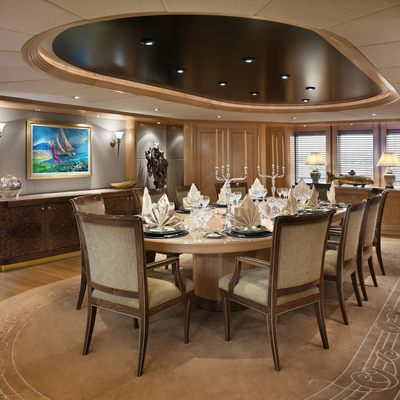 Laurel Yacht Interior Dining Area