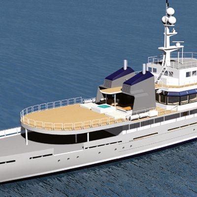 Enigma XK Yacht Rendering aft