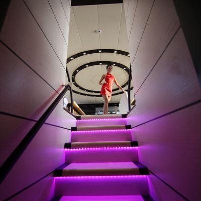 Perla del Mare Yacht Stairway
