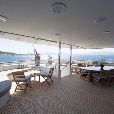 Azul V Yacht Upper Deck Aft