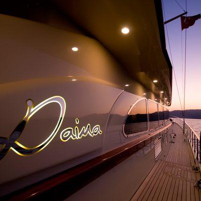 Daima Yacht Side Detail