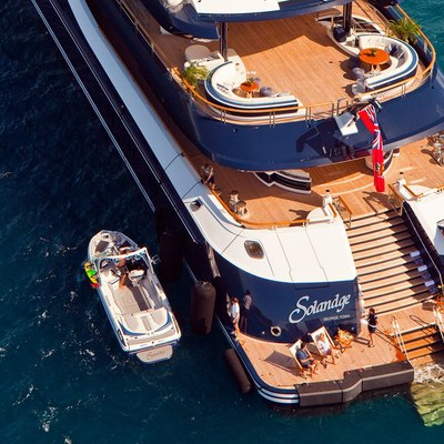 Solandge Yacht Aft Deck And Tender