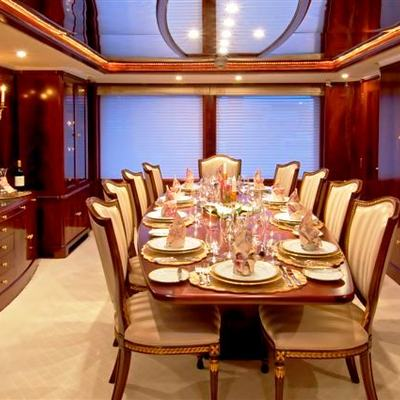 Bellami.Com Yacht View Down Table