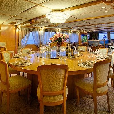 Vela Yacht Dining Area