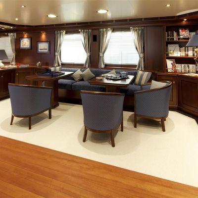 Axantha II Yacht Main Salon Seating
