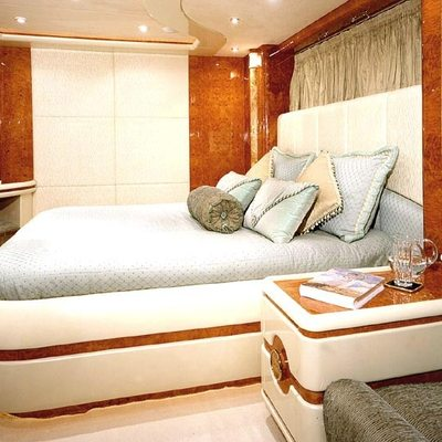 Wheels I Yacht Blue Guest Stateroom