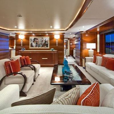 Latitude Yacht Main Salon from Aft