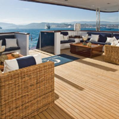 Force Blue Yacht Main Aft Deck