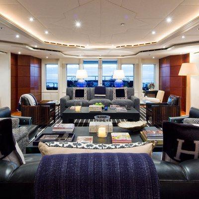Diamond Yacht Main Saloon Forward View - Day