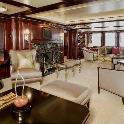Freedom Yacht Salon - Fireplace
