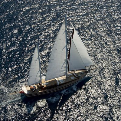 Take It Easier Yacht Aerial View