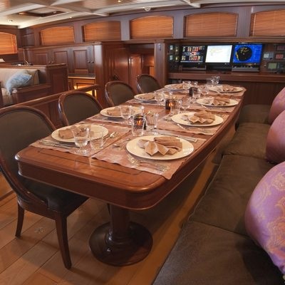 Athos Yacht Dining Area - Table Set