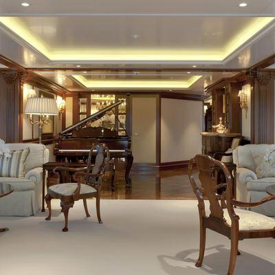 Lady Kathryn V Yacht Main Deck Salon