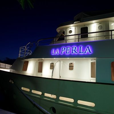 La Perla Yacht Night - Side View