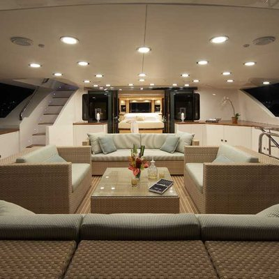 Lady Leila Yacht Upper Deck View Forward to Master Stateroom