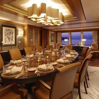 Lady Britt Yacht Main Dining Room