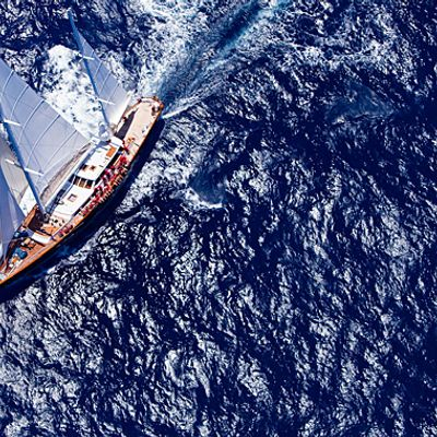 Axia Yacht Aerial View