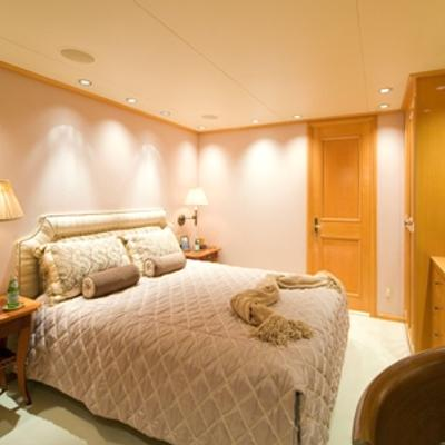 Sojourn Yacht Guest Stateroom with Queen Bed